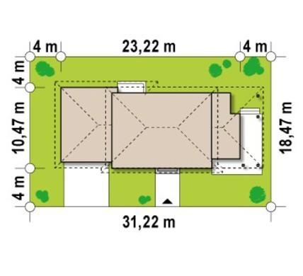 Проект усадьбы с боковой террасой