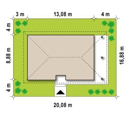 Классический проект 1,5-этажного коттеджа