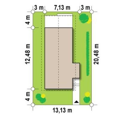 Проект двухэтажного небольшого дома для узкого участка