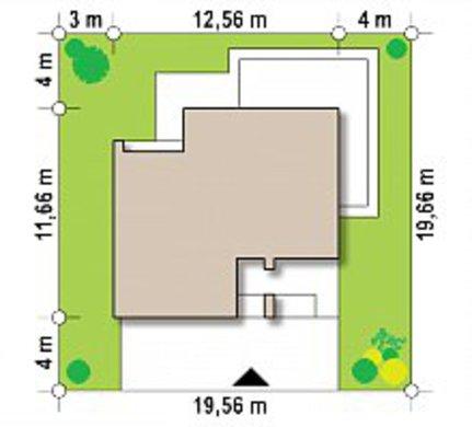 Небольшой двухэтажный коттедж с плоской кровлей