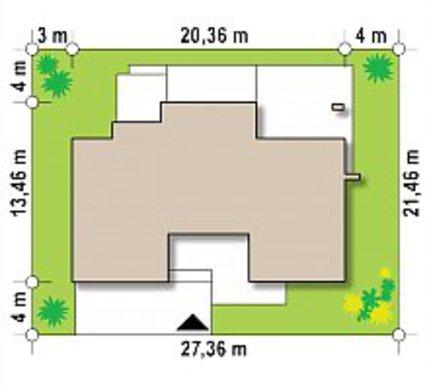 Современный двухэтажный коттедж с террасой на втором этаже