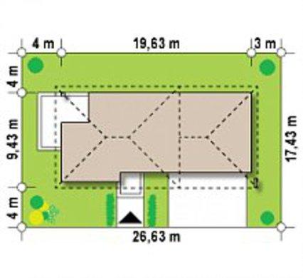 Современный двухэтажный коттедж с гаражом в пристройке