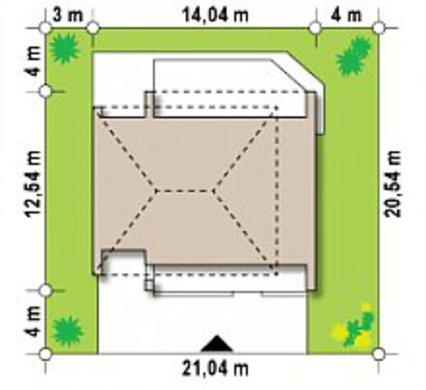 Двухэтажный дом с просторной террасой