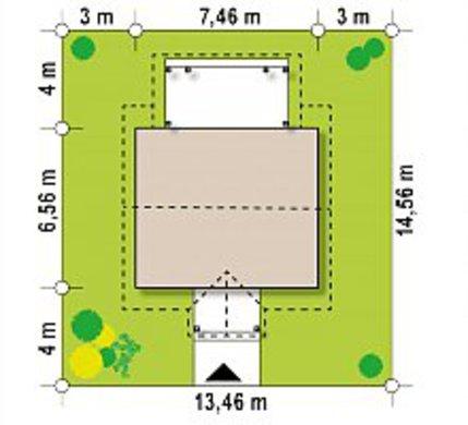 Летний коттедж 35 m²