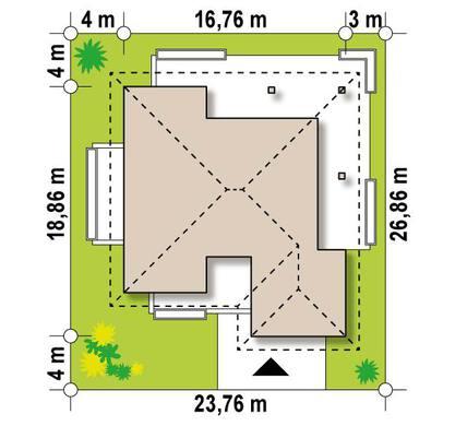 Одноэтажный коттедж 180 m²