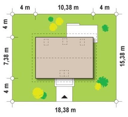 Проект дома с мансардой для небольшого участка