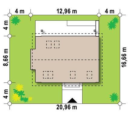 Небольшой мансардный коттедж для узкого участка