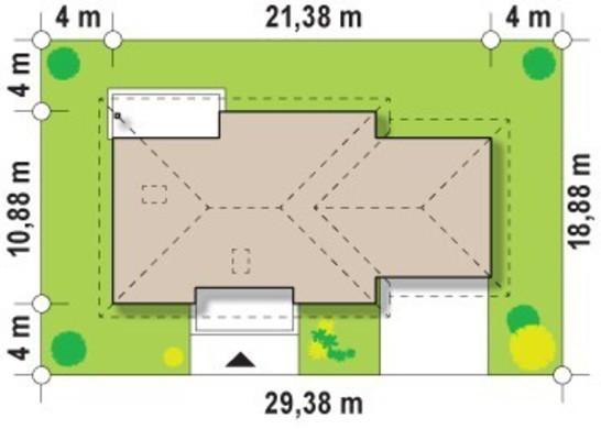 Проект одноэтажного дома с большим гаражом