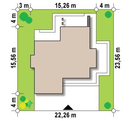 Небольшой современный двухэтажный коттедж с террасой на втором этаже