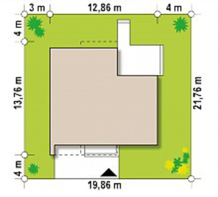Модерновый коттедж с площадью до 150 m²