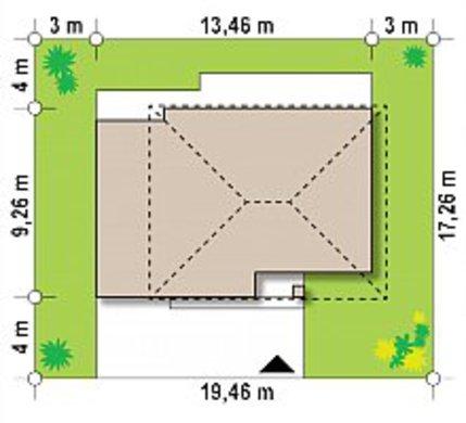 Небольшой компактный двухэтажный дом