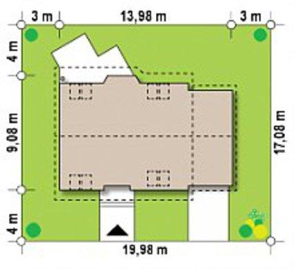 Двухэтажный загородный коттедж 9 на 14