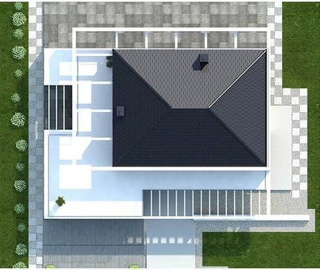 Двухэтажный жилой дом с просторными верандами
