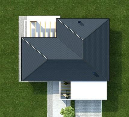 Необычный жилой дом с кирпичной отделкой