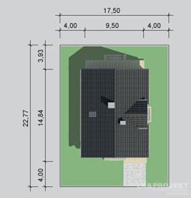 Легкий двухэтажный жилой дом