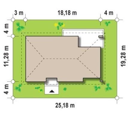 Проект элегантного коттеджа с тремя спальнями