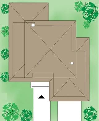 Двухэтажный жилой дом с двумя спальнями на первом этаже