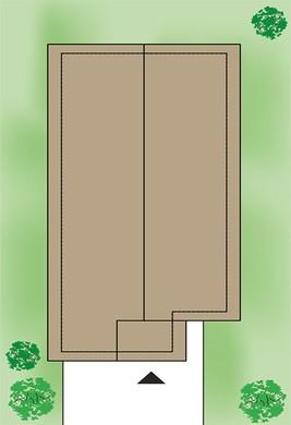 Стильный двухэтажный загородный дом с гаражом