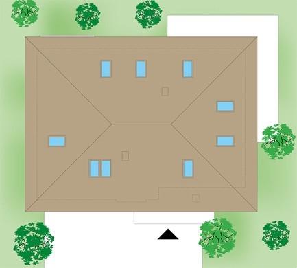 Жилой дом с пятью спальнями и просторным гаражом