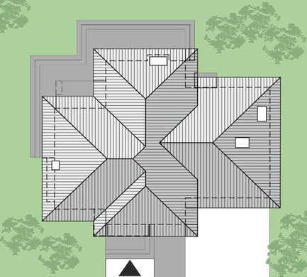 Двухэтажный жилой дом с удобными личными комнатами