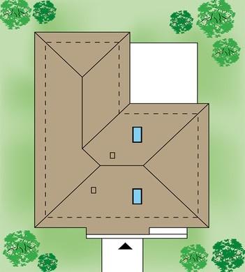 Презентабельный жилой дом с полузакрытой верандой