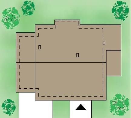 Одноэтажный коттедж с тремя спальнями
