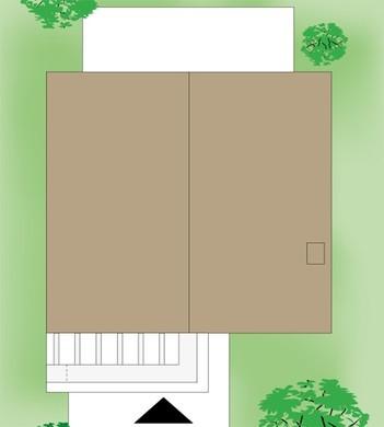 Современный двухэтажный коттедж с тремя спальнями