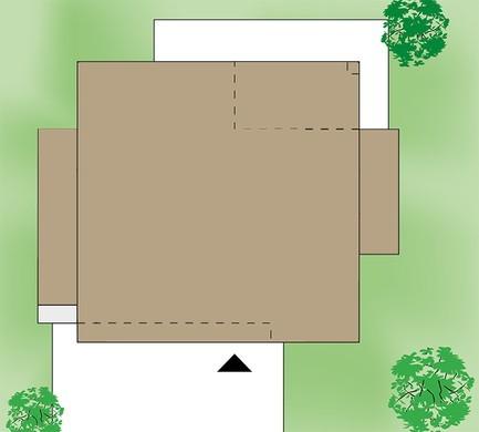 Двухэтажный дом с общей комнатой отдыха на втором этаже