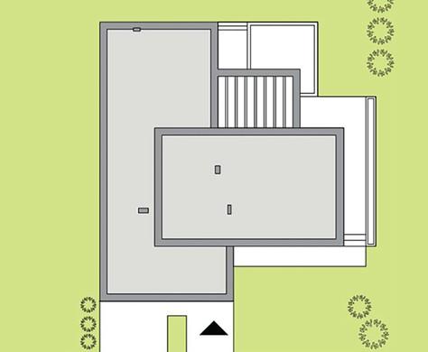 Современный одноэтажный белоснежный коттедж