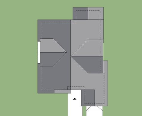 Двухэтажный коттедж с  гостиной и гаражом