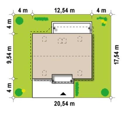 Проект коттеджа в традиционном стиле с двускатной крышей