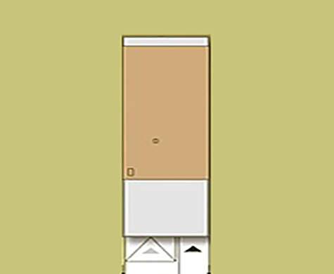 Планировка двухэтажного дома для узкого участка