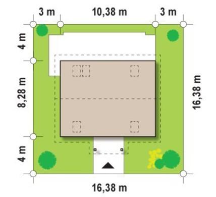 Проект уютного дома с дополнительной спальней
