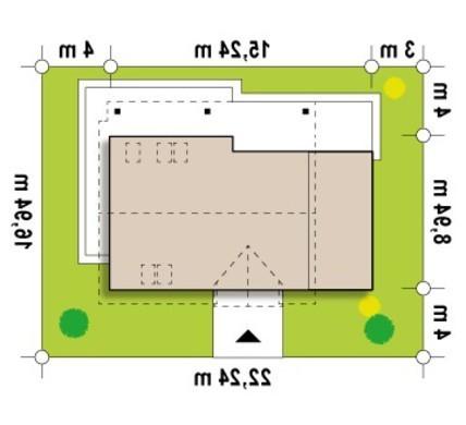 Проект классического дома с террасой над гаражом