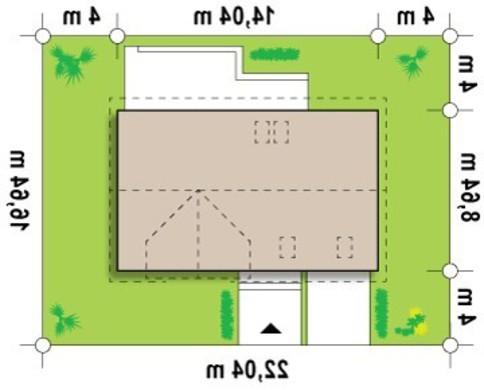 Проект коттеджа со встроенным гаражом и мансардой