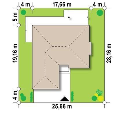 Проект удобного одноэтажного дома с гаражом для двух автомобилей