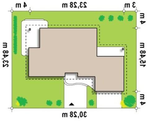 Проект дома с гаражом для двух машин