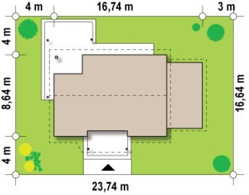 Классический проект небольшого дачного дома