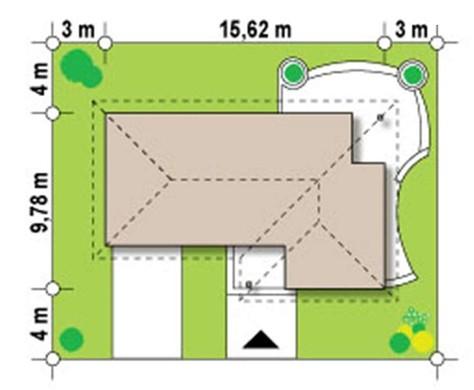 Проект стильного одноэтажного дома с гаражом