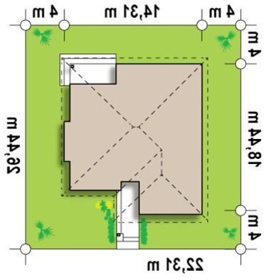 Проект стильного, просторного современного одноэтажного коттеджа
