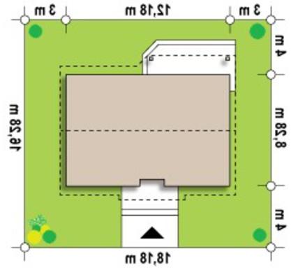 Проект классического одноэтажного коттеджа в традиционном стиле