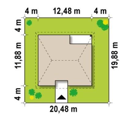 Проект большого элегантного дома с мансардой