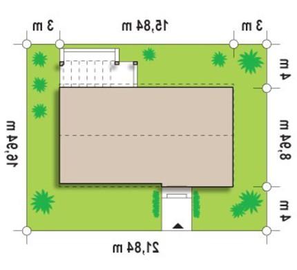 Проект одноэтажного современного коттеджа