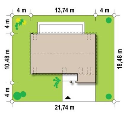 Проект современного коттеджа с мансардой и гаражом