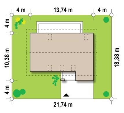 Проект уютного коттеджа с гаражом