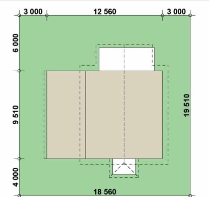 Компактный дом 8*9 в европейском стиле