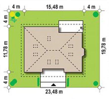 Проект загородного коттеджа с мансардой