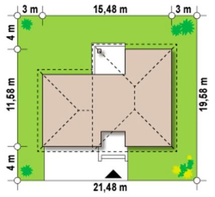 Проект классического 2х этажного коттеджа с гаражом на два автомобиля