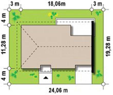 Проект шикарного комфортного одноэтажного особняка с гаражом