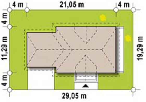Проект комфортного особняка с просторной мансардой